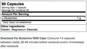 Glutamine1000 Amino energy