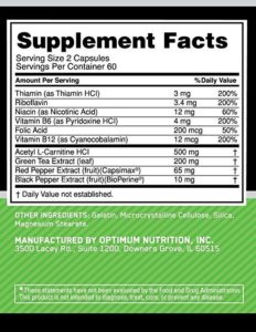 OPTIMUM NUTRITION DAILY FIT-120